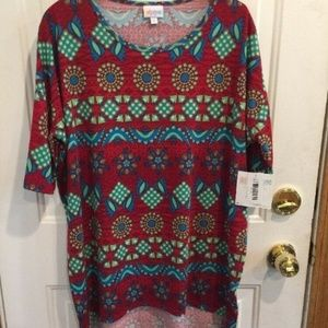 NWT LuLaRoe Irma Stretchy Top Hi Low